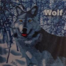 Gray Wolf Cudly Animal Throw Fleece Gray Blue White Gift