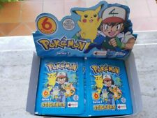 Pokemon bustine adesivi album serie 2 topps Merlin 2000 blu 6 stickers carte ex