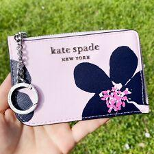 Kate Spade Cameron Grand Flora Mediano Pequeño Llavero Cartera de portatarjetas