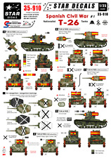 Star calcomanías 35-910. calcomanías de guerra civil española (# 1). nacionalista T-183 Tanque