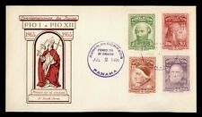 1956 PANAMA FDC POPE A SMITH COVER CACHET COMBO PORTRAIT