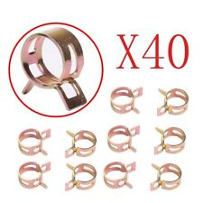 40pc ID 5mm Spring Band Clip Action Fuel Silicone Vacuum Hose Clamp 3/16""