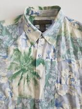 Tori Richard Men's Aloha Hawaiian Lounge/Camp Casual Shirt Green/White Sz Large
