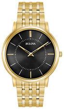 Bulova Men's Classic Ultra Slim Gold Tone Stainless Steel Watch 97A127