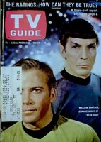 TV Guide 1967 Star Trek Leonard Nimoy Spock William Shatner Kirk #727 VG COA
