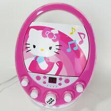 2013 Sanrio Hello Kitty CD Player / Karaoke Machine Disco Party No Microphone
