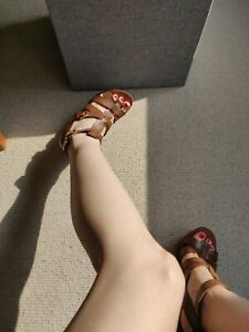 ASH Banyan Leather Platform Wedge Strappy Sandals Size UK 5 /38 (cost £130)