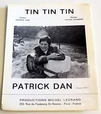 Partition sheet music PATRICK DAN : Tin Tin Tin * 60's