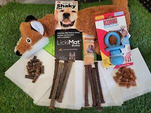Puppy Enrichment Box Lickimat Natural Treats Liver Paste Meat Sticks Kong Toy