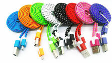 1M 3ft Braided Fabric Micro USB Data&Sync Charger Cable Cord For Samsung 18a25