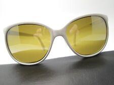 Vintage • Taiwan USGP • Double Gradient Mirror Brown GLASS Sunglasses White