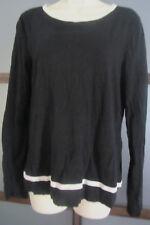 LAUREN Ralph Lauren Sweater Black XL Tie-Back Keyhole Feminine Sweater