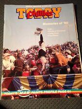 1990 Philadelphia Phillies Gameday Program Memories Of 1980 World Series