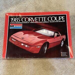 Monogram 1985 Chevrolet Corvette Coupe 1/8th scale Model Kit