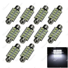 10X White 39MM 38MM 10 SMD 5630 LED Interior Light Lamp Festoon Bulbs Auto ZI211