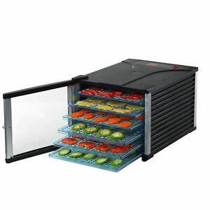 Deluxe Food Dehydrator 6 Tray 630W Electric Blower Jerky Fruit Dryer  Timer