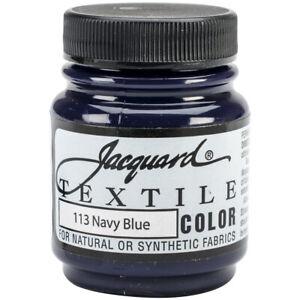 Jacquard Textile Color Fabric Paint 2.25oz-Navy Blue, TEXTILE-1113