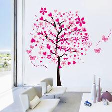 Wandtattoo Wandsticker Deko wand  Warnaufkleber Herzblume Pink Bunt Moderndising