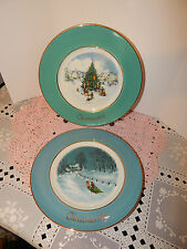 Collectible Enoch Wedgwood England Avon Christmas Plates 1970's~2nd & 3rd Edit.