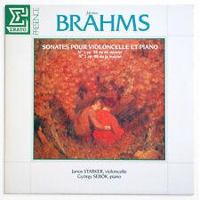 JANOS STARKER Johannes Brahms cello sonatas french erato EPR 15547 STEREO LP