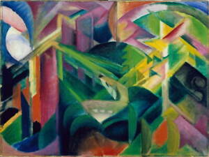 Franz Marc Deer in a Monastery Garden Giclee Art Paper Print Poster Reproduction