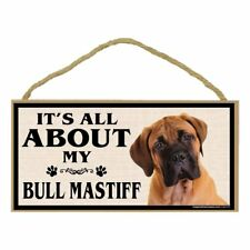 Imagine This Wood Breed Sign, It's All About My Bull Mastiff - New