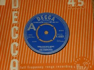 """THE FORTUNES - This Golden Ring - UK DEMO 7"""" - DECCA F12321"""