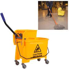 20l Commercial Heavy Duty Wet Mop Bucket Wringer Combo Yellow