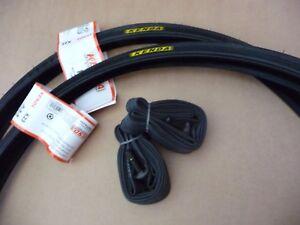 Pair Kenda 26x1 1/4 BLACK Sport Tyres Vintage Bike Road Bicycle 32-597 Fast Roll