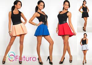 Sexy & Trendy Women's Asymmetric Skirt Eco Leather Waist Sizes 8-16 8331
