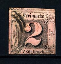 GERMAN STATES - GERMANIA ANTICHI STATI - THURN E TAXIS - 1852 - Numeri in quadra
