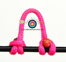 5 Pack Pink Release Bow String Nock D Loop Bowstring BCY #24