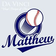 Personalized Boy Name Baseball ball Vinyl Sticker Wall Decal Decoration