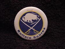 VINTAGE 1970's Buffalo Sabres 2 1/4 Inch Old Logo Pinback, NICE!!