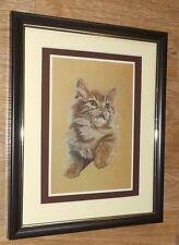 Hans paul luetcke framed wall art - 8''x10'', persian kitten artboard imprimer 1977