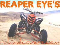 Raptor Yamaha YFM 700 QUAD REAPER EYES HeadLight Covers RuKind