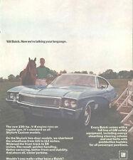 1968 Buick Skylark Equestrian Rider Vintage Automobile Advertisement Original
