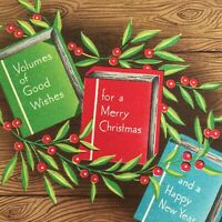 Vintage Early Mid Century Christmas Greeting Card Books And Holly Berries