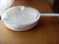 """Corning Ware Cornflower Range Toppers 10"""" covered skillet~No Reserve"""
