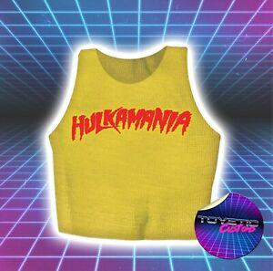 Hulkamania Wrestling Figure Vest T-shirt - Hulk Hogan WWE WCW - Custom Handmade