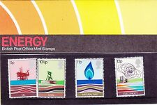 "ENGLAND, 1978, ""BRITISH ENERGY"" SET OF 4 STAMPS ON PRESENTATION PACK, MNH"