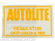 Ford Falcon Voltage Regulator Decal XW XY XA XB XC ZC ZD ZF ZG ZH GS GT GXL LTD