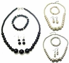 Pearl Crystal Mixed Metals Costume Jewellery Sets