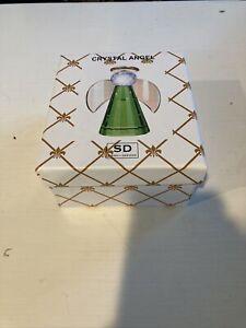 SD Simon Designs Crystal Green Angel Ornament