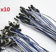 10x Power Cable and Button Switch for PC Replacement On Off Switch Reset 10pcs