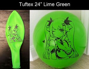 "Cute Anime Girl Printed Looner Balloons in Tuftex 17"" / 24"" Multi-color"