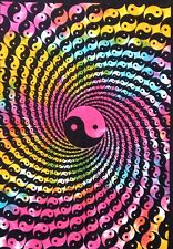 Multi Color Wall Hanging Yin Yang Cotton Tapestry Poster Indian Handmade Hippie