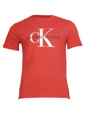 Calvin Klein Men's Unboxed Monogram Short Sleeve Crew Neck Cotton T-Shirt