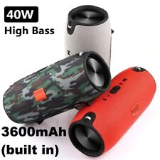 40W Waterproof Bluetooth Speaker Portable Wireless Stereo Subwoofer, Power Bank