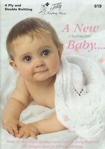 Hand Knitting Patterns ONLY Teddy Book A New Baby Child Patterns 619 New